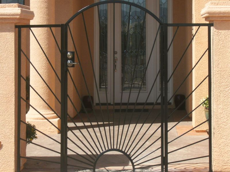 Nature Inspired Courtyard & Entryway Gates CE0273 Wrought Iron Design In Las Vegas