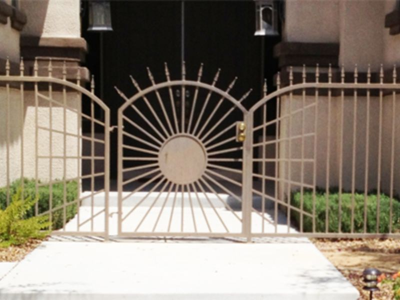 Nature Inspired Courtyard & Entryway Gates CE0275 Wrought Iron Design In Las Vegas