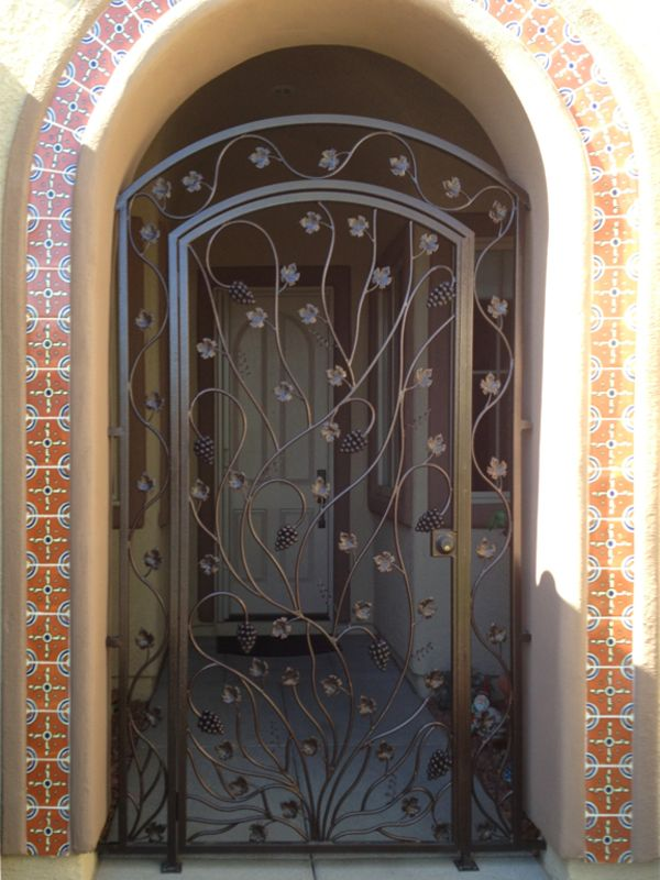 Nature Inspired Courtyard & Entryway Gates CE0289 Wrought Iron Design In Las Vegas