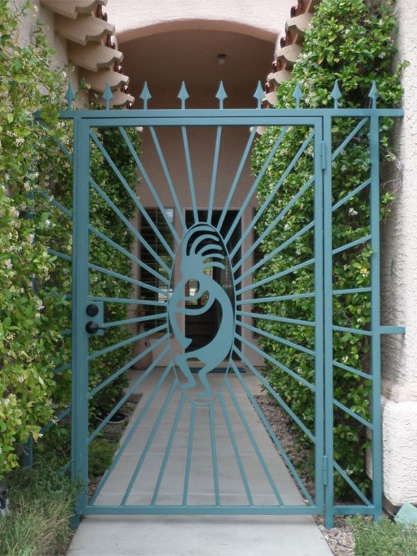 Nature Inspired Courtyard & Entryway Gates CE0311 Wrought Iron Design In Las Vegas