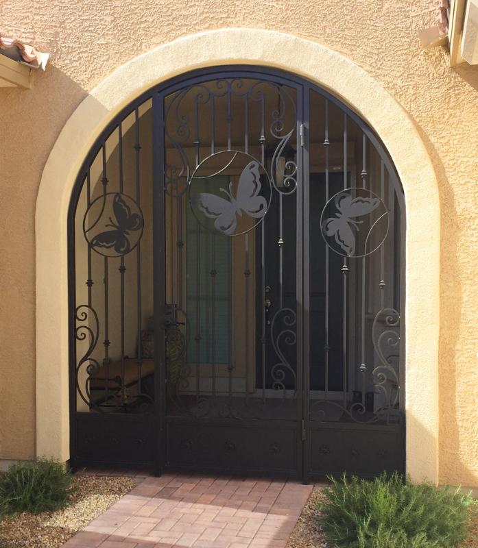 Nature Inspired Custom Archive Entryway Door - Item EW0494 Wrought Iron Design In Las Vegas