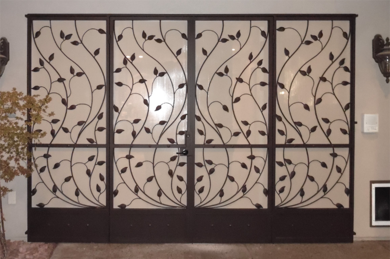 Nature Inspired Double Security Door - Item Crescente FD0016_Panels Wrought Iron Design In Las Vegas