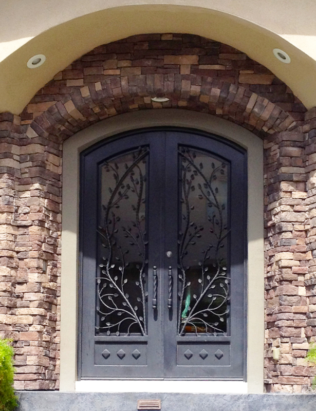 Nature Inspired Front Door - Item Crescente GE0106 Wrought Iron Design In Las Vegas