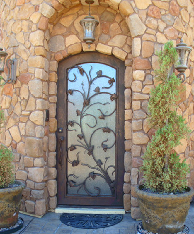 Nature Inspired Front Door - Item Vitigni GE0041 Wrought Iron Design In Las Vegas
