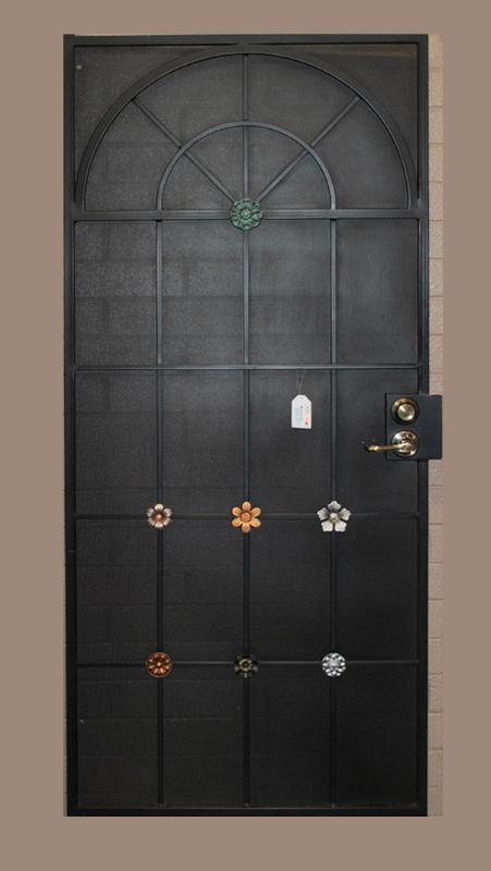 Nature Inspired Security Door - Item Monticello SD0011_Black Wrought Iron Design In Las Vegas