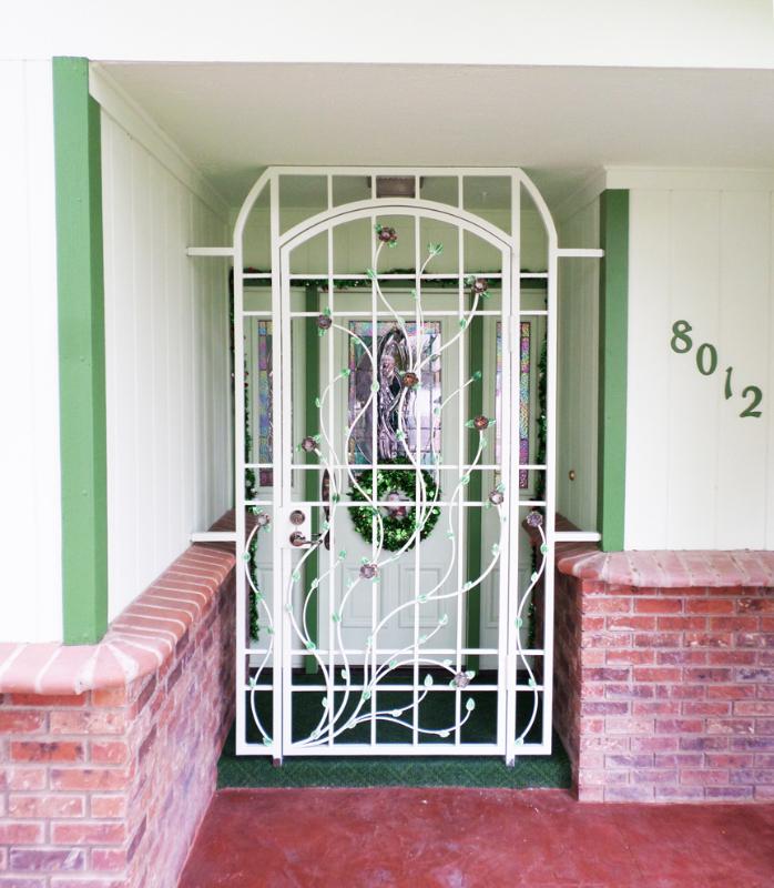 Nature Inspired Venice Entryway Door - Item EW0329 Wrought Iron Design In Las Vegas
