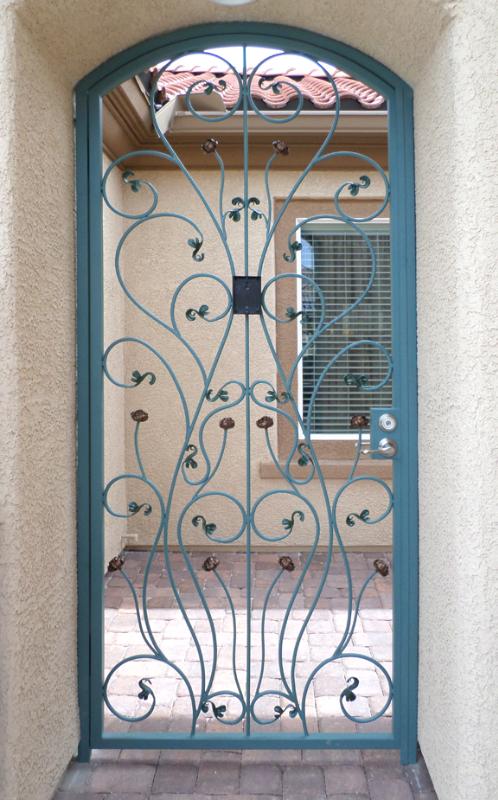 Nature Inspired Venice Entryway Door - Item EW0504 Wrought Iron Design In Las Vegas
