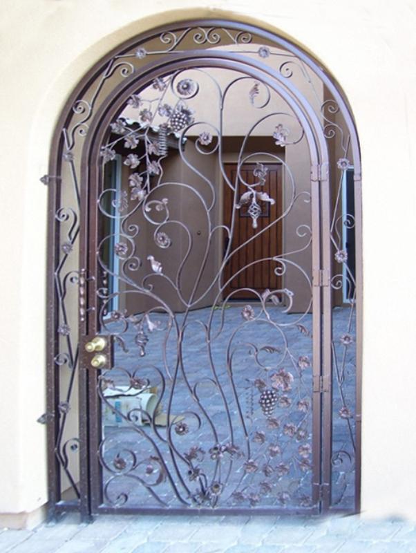 Nature Inspired Vitigni Entryway Door - Item EW0009 Wrought Iron Design In Las Vegas