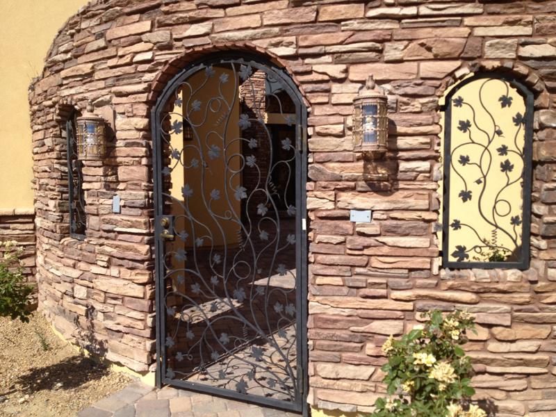 Nature Inspired Vitigni Entryway Door - Item EW0271 Wrought Iron Design In Las Vegas
