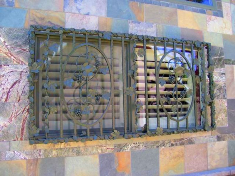 Nature Inspired Window Guard WG0010 Wrought Iron Design In Las Vegas