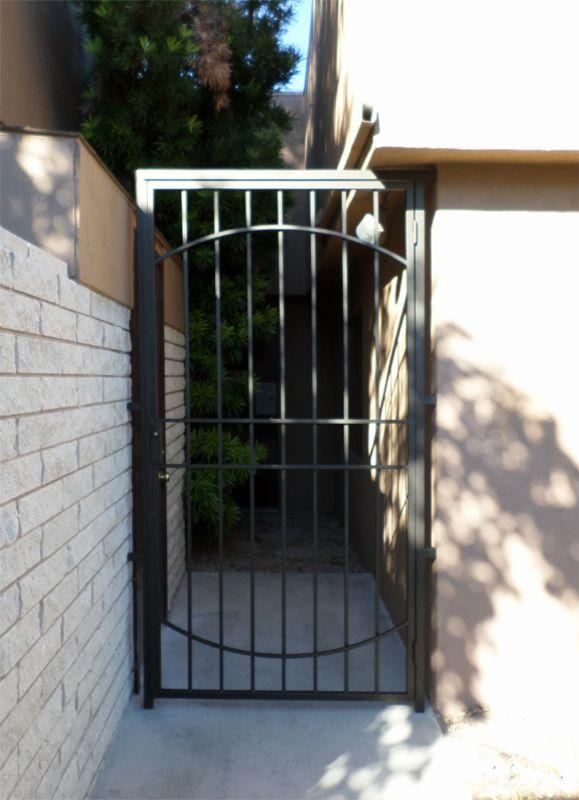 Traditional Single Gate - Item NewburySG0517 Wrought Iron Design In Las Vegas