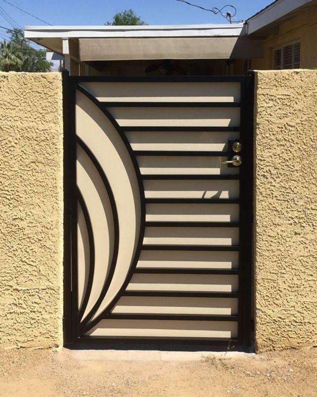 Modern Single Gate - Item OdysseySG0486 Wrought Iron Design In Las Vegas