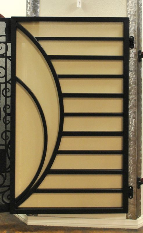 Modern Single Gate - Item Odyssey SG0486A Wrought Iron Design In Las Vegas