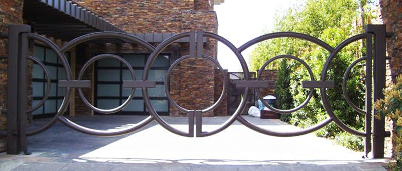 Modern Double Gate - Item Olympia DG0258 Wrought Iron Design In Las Vegas