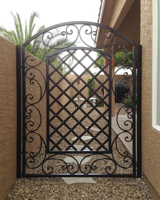 Traditional Single Gate - Item PaisleySG0436A Wrought Iron Design In Las Vegas