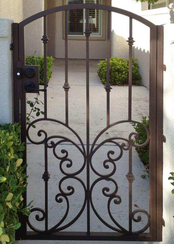 Scrollwork Single Gate - Item PapillionSG0307 Wrought Iron Design In Las Vegas