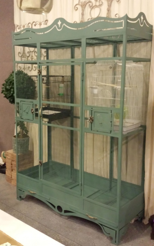 Pet Bird Cage - Item PC0004 Wrought Iron Design In Las Vegas