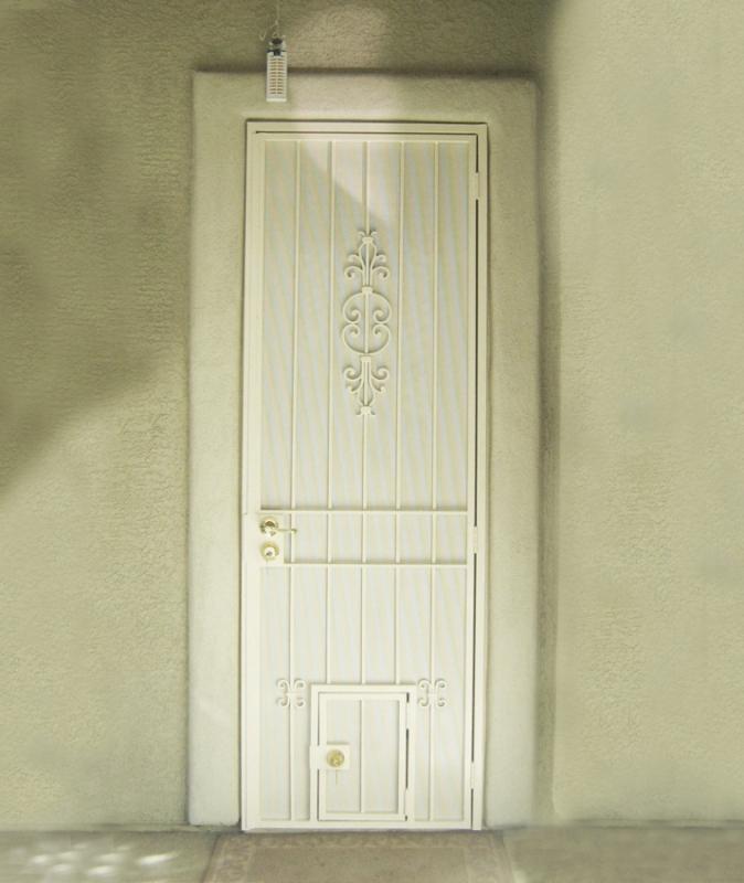 Pet Door - Item PD0003 Wrought Iron Design In Las Vegas