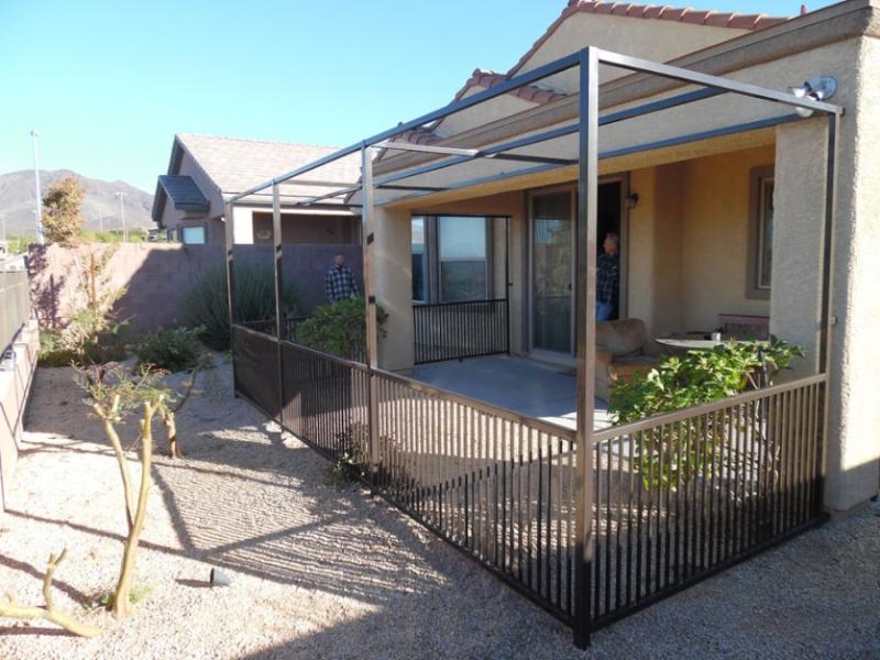 Pet Fence - Item PF0001 Wrought Iron Design In Las Vegas