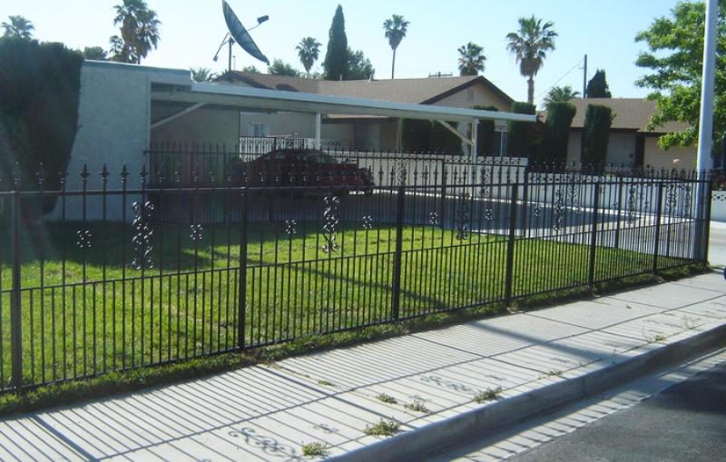 Pet Fence - Item PF0003 Wrought Iron Design In Las Vegas