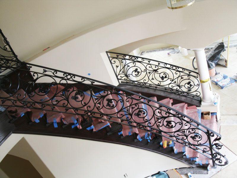 Traditional-Interior Railing-Item IR0101 Wrought Iron Design In Las Vegas