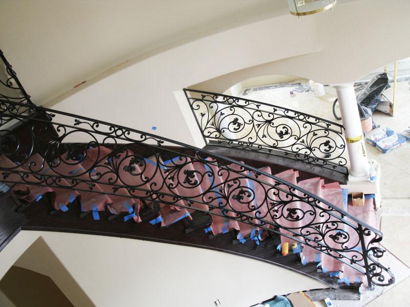 Scrollwork-Interior Railing-Item IR0101 Wrought Iron Design In Las Vegas