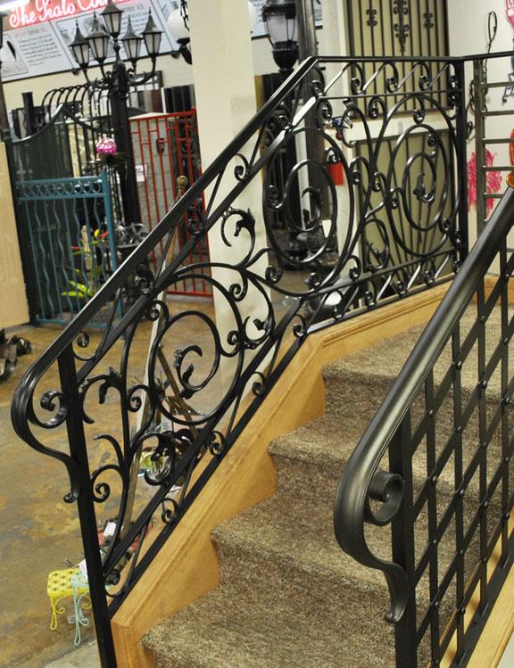 Scrollwork-Interior Railing-Item IR0224 Wrought Iron Design In Las Vegas