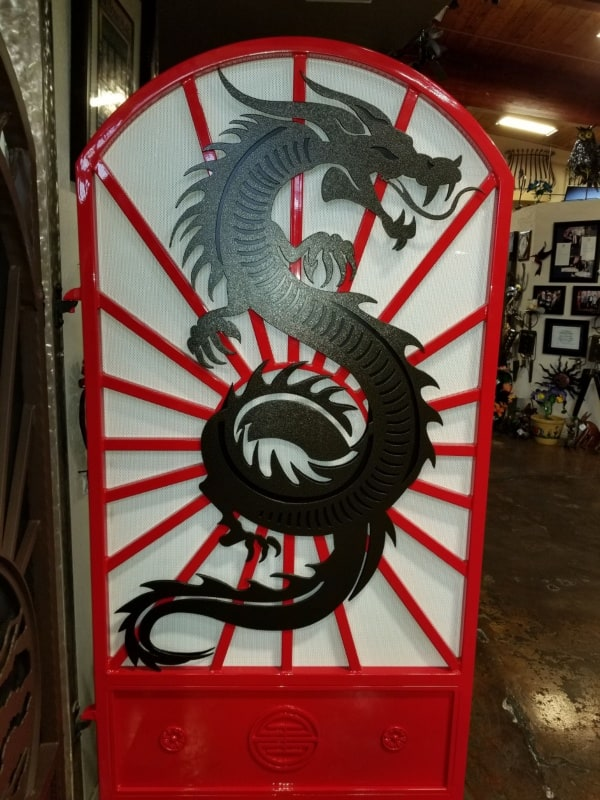 Plasma Cut Custom Door Wrought Iron Design In Las Vegas