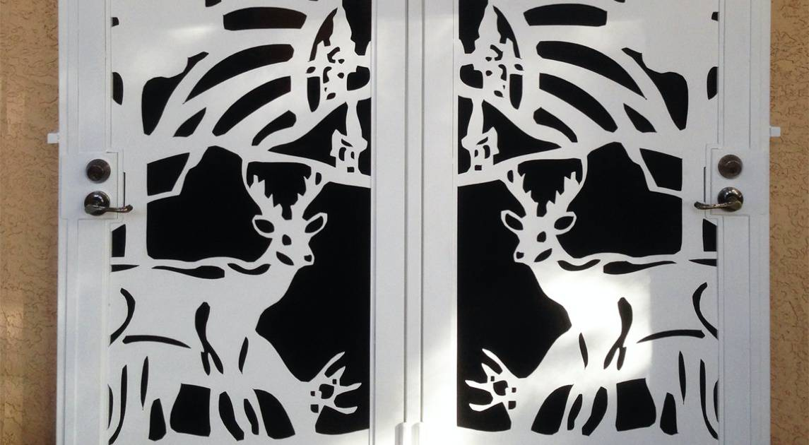 Plasma Cutting Front Door Wrought Iron Design In Las Vegas