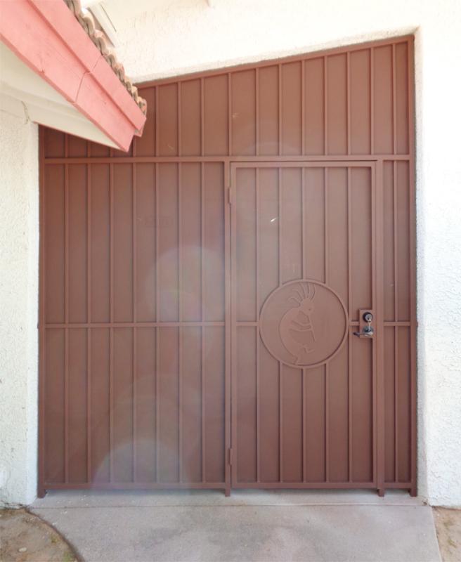 Plasma-Cut Custom Archive Entryway Door - Item EW0468 Wrought Iron Design In Las Vegas