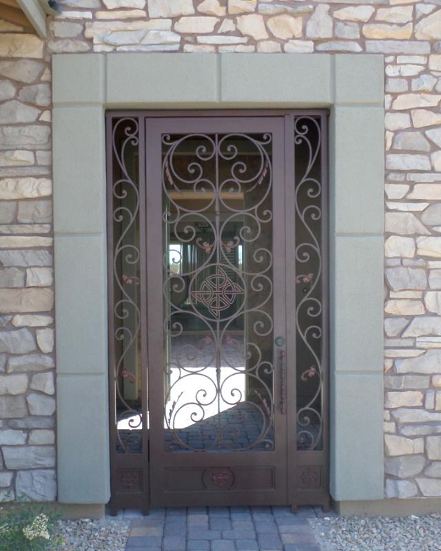 Plasma-Cut Custom Archive Entryway Door - Item EW0508 Wrought Iron Design In Las Vegas