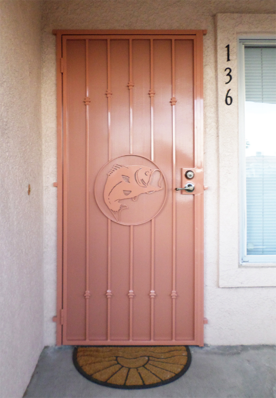 PlasmaCut Custom Archive Security Door - Item SD0154 Wrought Iron Design In Las Vegas