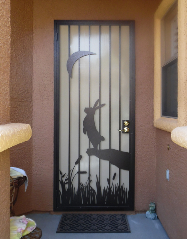 PlasmaCut Custom Archive Security Door - Item SD0270 Wrought Iron Design In Las Vegas