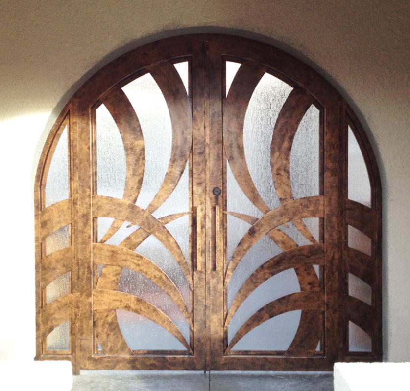 PlasmaCut Front Door - Item Tunisa GE0088 Wrought Iron Design In Las Vegas