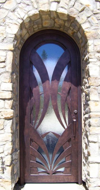 PlasmaCut Front Door - Item Tunisa GE0088A Wrought Iron Design In Las Vegas