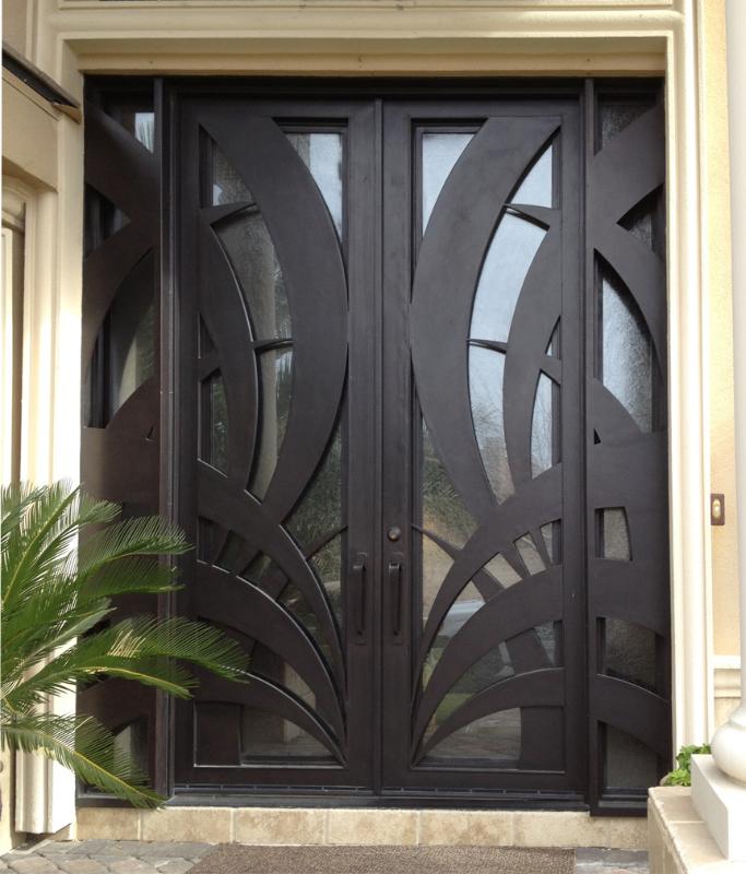 PlasmaCut Front Door - Item Tunisa GE0088B Wrought Iron Design In Las Vegas
