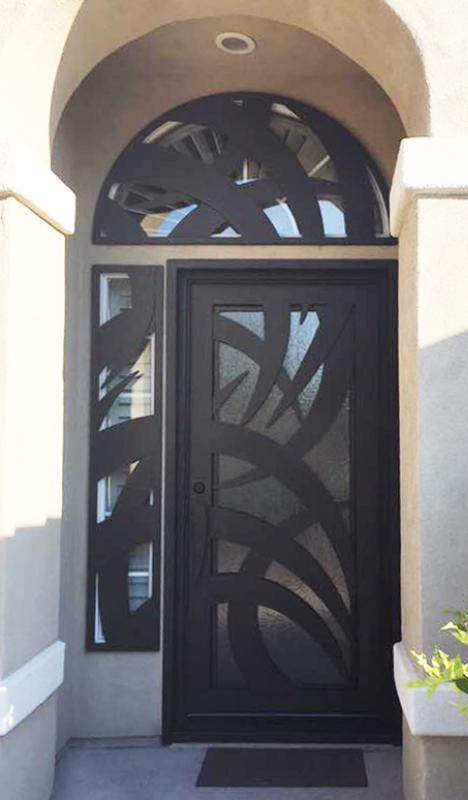 PlasmaCut Front Door - Item Tunisa GE0212 Wrought Iron Design In Las Vegas