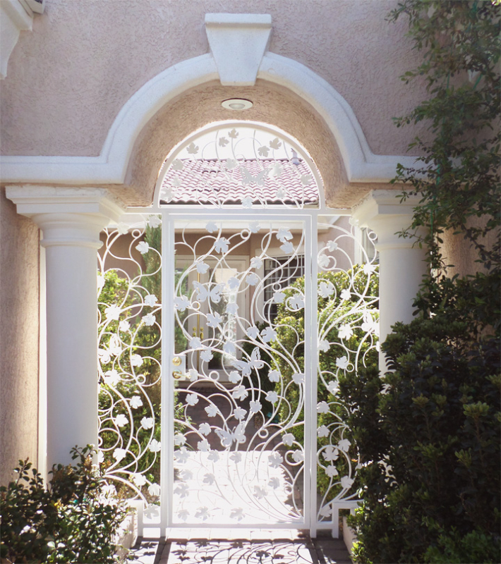 Plasma-Cut Printemps Entryway Door - Item EW0505 Wrought Iron Design In Las Vegas