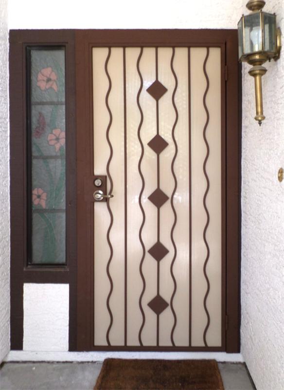 PlasmaCut Security Door - Item Diamondback SD0186 Wrought Iron Design In Las Vegas