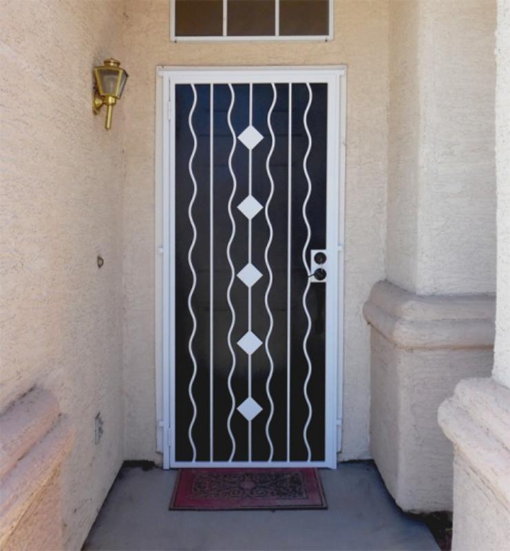 PlasmaCut Security Door - Item Diamondback SD0269 Wrought Iron Design In Las Vegas