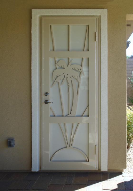PlasmaCut Security Door - Item Sandy Beaches SD0272 Wrought Iron Design In Las Vegas