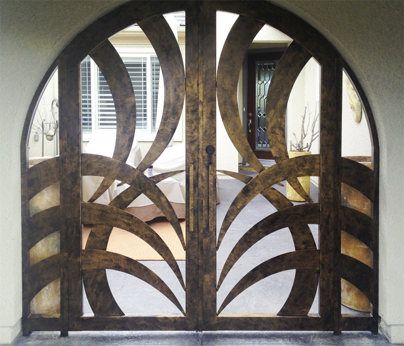 Plasma-Cut Tunisa Entryway Door - Item EW0241 Wrought Iron Design In Las Vegas