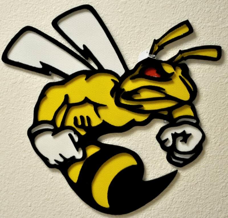 Powder Coat Bee Custom Sign Wrought Iron Design In Las Vegas
