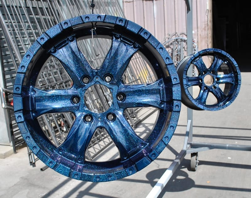 Powder Coat Chameleon Sapphire Rims Wrought Iron Design In Las Vegas