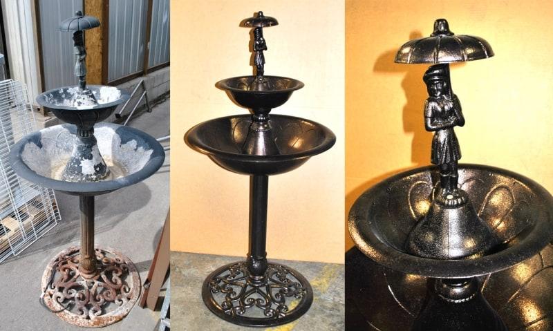 Powder Coat Garden Fountain Wrought Iron Design In Las Vegas