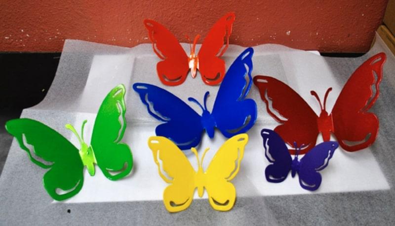 Powder Coat Iron Butterflies Wrought Iron Design In Las Vegas