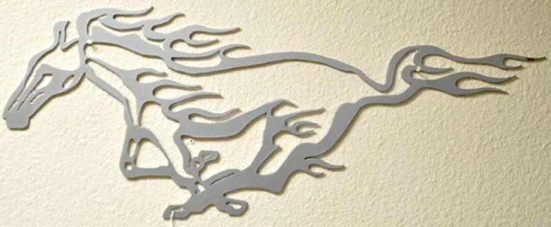 Powder Coat Mustang Sign Wrought Iron Design In Las Vegas
