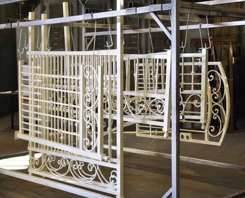 Powder Coat Oyster White Wrought Iron Design In Las Vegas