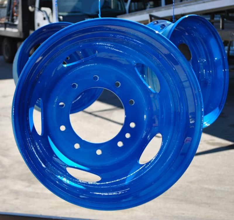 Powder Coat Peek A Blue Rims Wrought Iron Design In Las Vegas