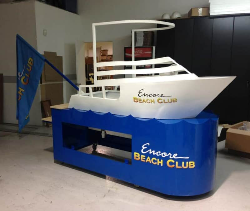 Powder Coat Promotional Boat Wrought Iron Design In Las Vegas
